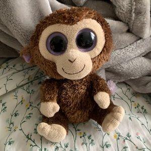 Ty Beanie Boos Coconut the Monkey Plush